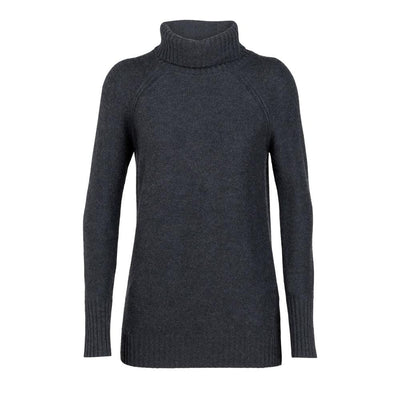 Icebreaker Other Gear Icebreaker Waypoint Roll Neck Sweater Women LG / Charcoal Heather 104317022L