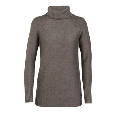 Icebreaker Other Gear Icebreaker Waypoint Roll Neck Sweater Women LG / Toast Heather 104317209L