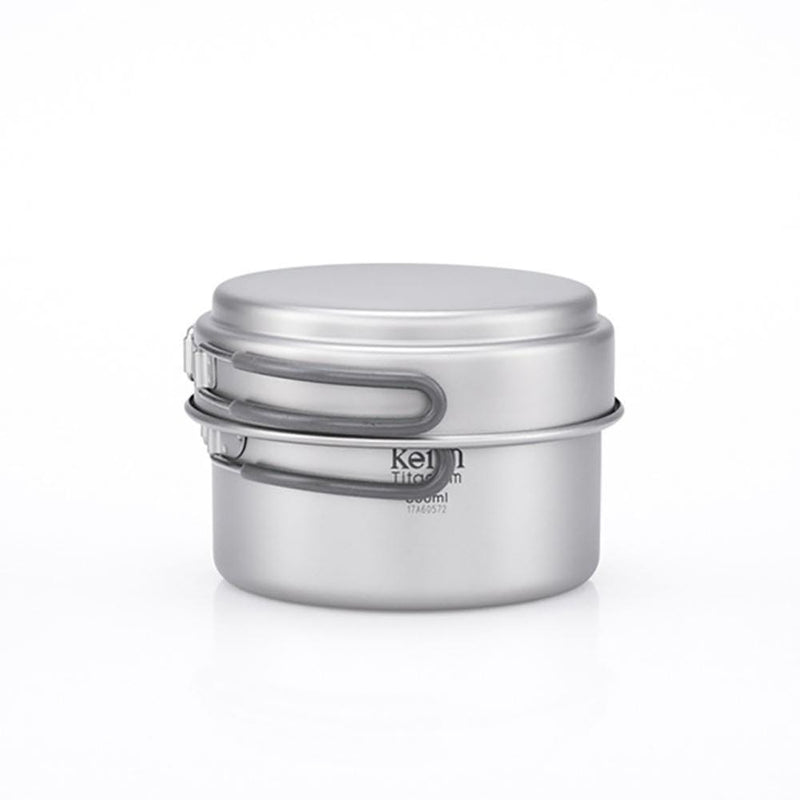 Keith Other Gear Keith 2-Piece Titanium Pot and Pan Cook Set 0.8L KETI6012