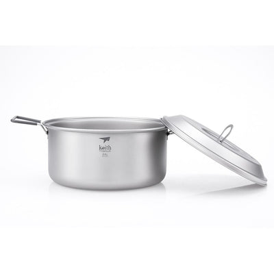 Keith Other Gear Keith 2-Piece Titanium Pot and Pan Cook Set 2.5L KETI6018