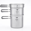 Keith Other Gear Keith 3-Piece Titanium Pot and Pan Cook Set 1.2L KETI6014