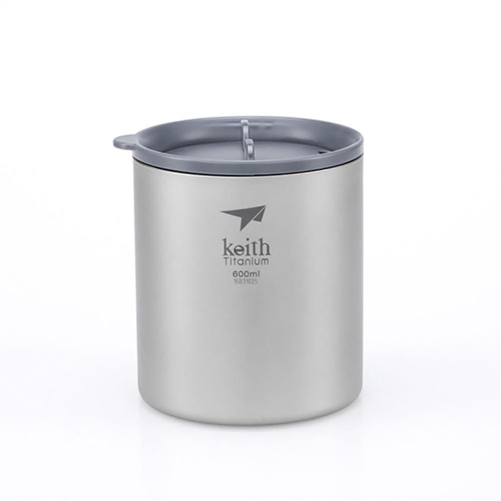 Keith Other Gear Keith Double-Wall Titanium Mug with Lid 600mL KETI3306