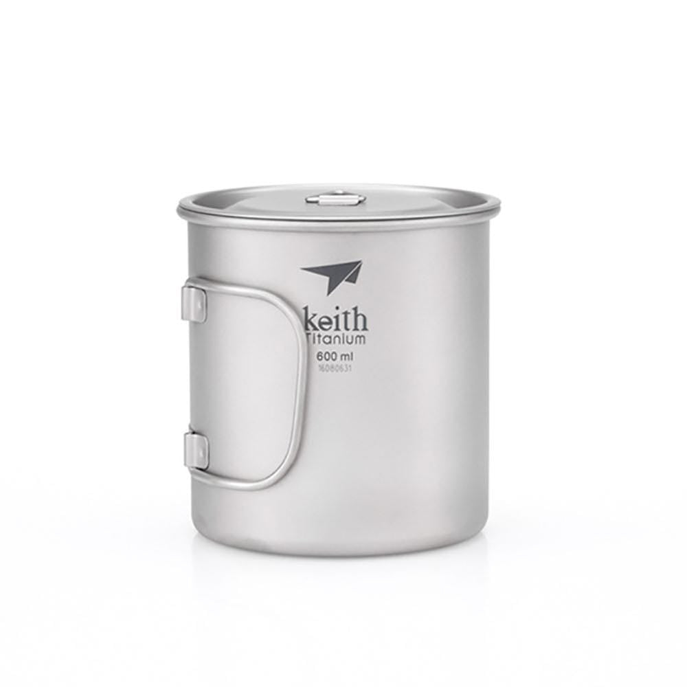 Keith Other Gear Keith Single-Wall Titanium Mug w Handle and Lid 600mL KETI3207