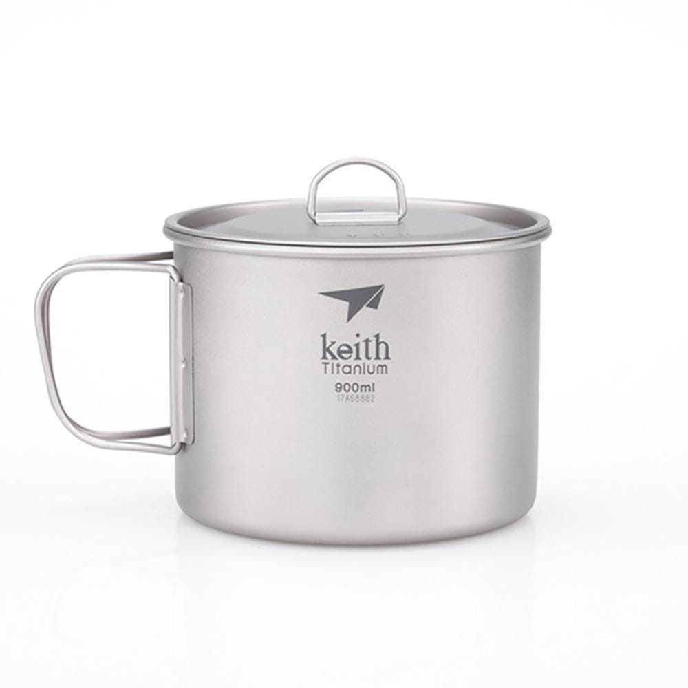 Keith Other Gear Keith Single-Wall Titanium Mug w Handle and Lid 900mL KETI3209