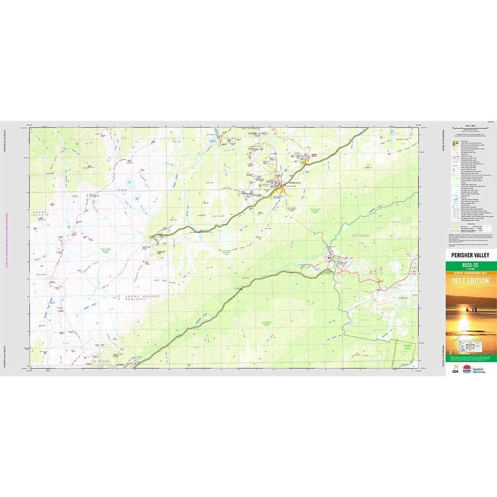NSW Topographic Map Waterproof 1:25,000