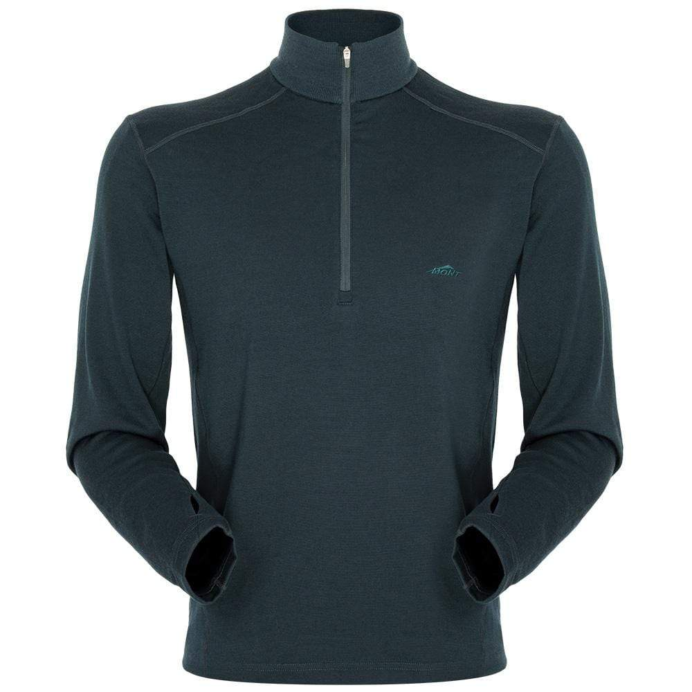 Mont Men Merino 320 Long Sleeve Zip Men MD / Moss 68.86.33