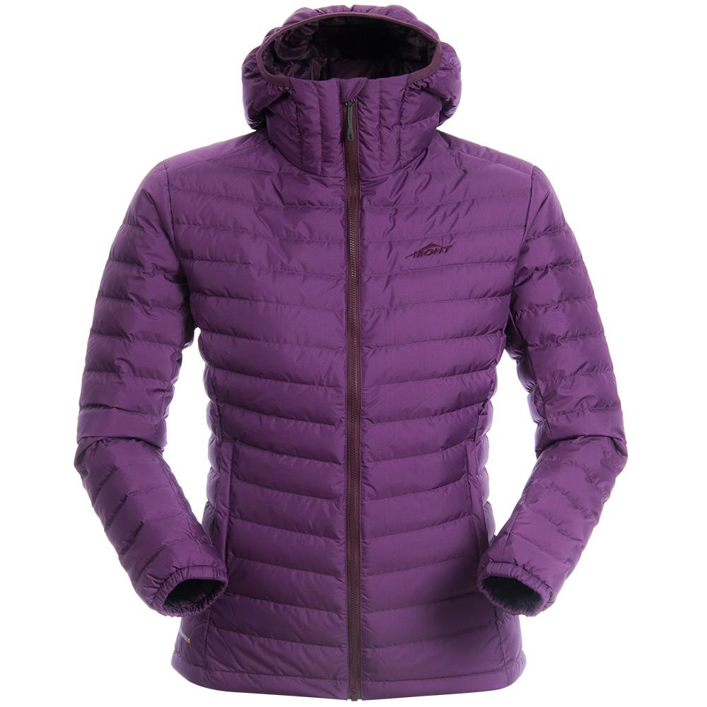 Mont Women Neon Down Hoodie Women 8 / Deep Violet 45.58.13