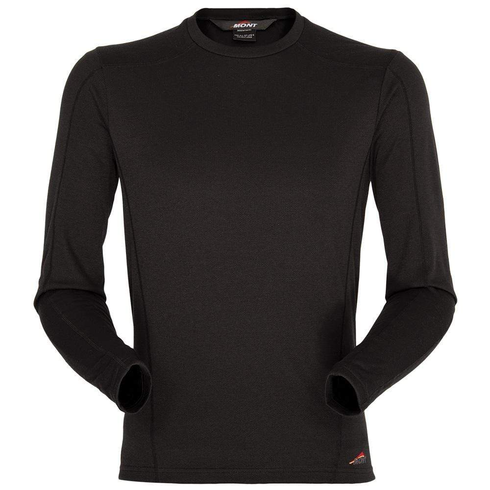 Mont Men Power Dry Long Sleeve Crew Men 2XL / Black 68.52.61