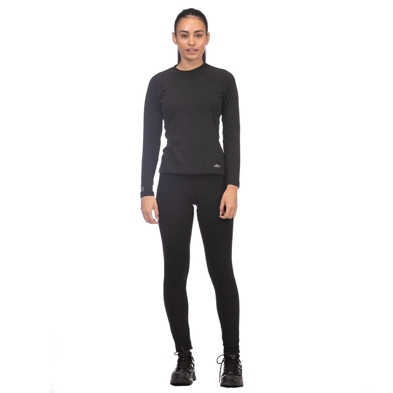 Mont Women Power Dry Long Sleeve Crew Women 8 / Black 68.53.11