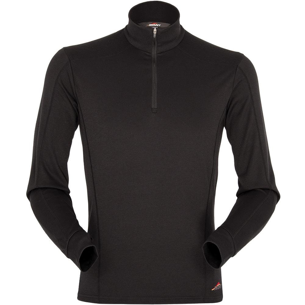 Mont Men Power Dry Long Sleeve Zip Polo Men 2XL / Black 68.50.61