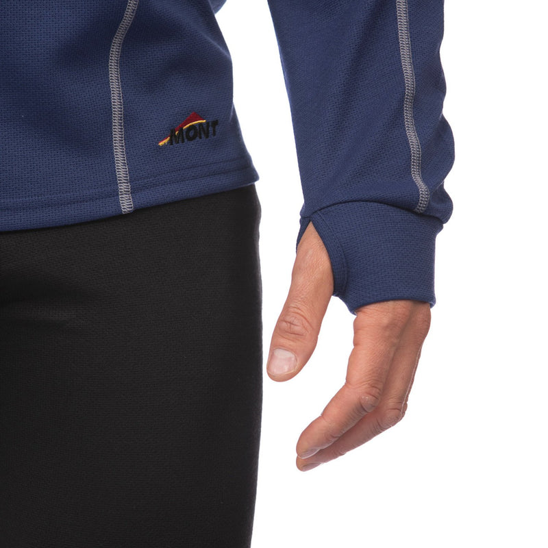 Power Dry Long Sleeve Zip Polo Men Clearance