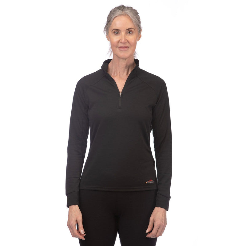 Mont Women Power Dry Long Sleeve Zip Polo Women Clearance 8 / Black 68.51.11