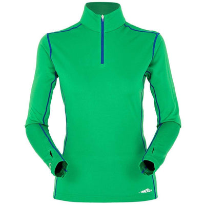 Mont Women Reactor Long Sleeve Zip Tee Women 8 / Amazon Green 68.31.17