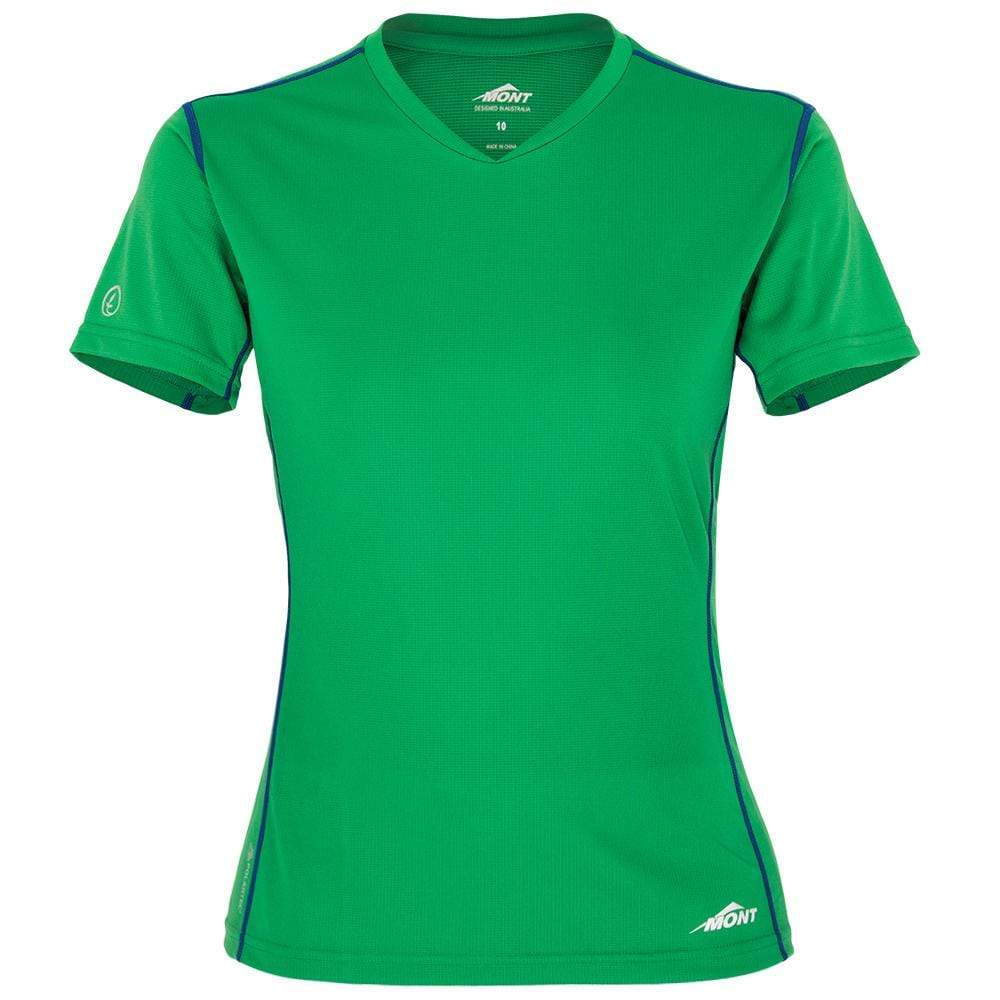 Mont Women Reactor Short Sleeve Vee Women 8 / Amazon Green 68.33.17