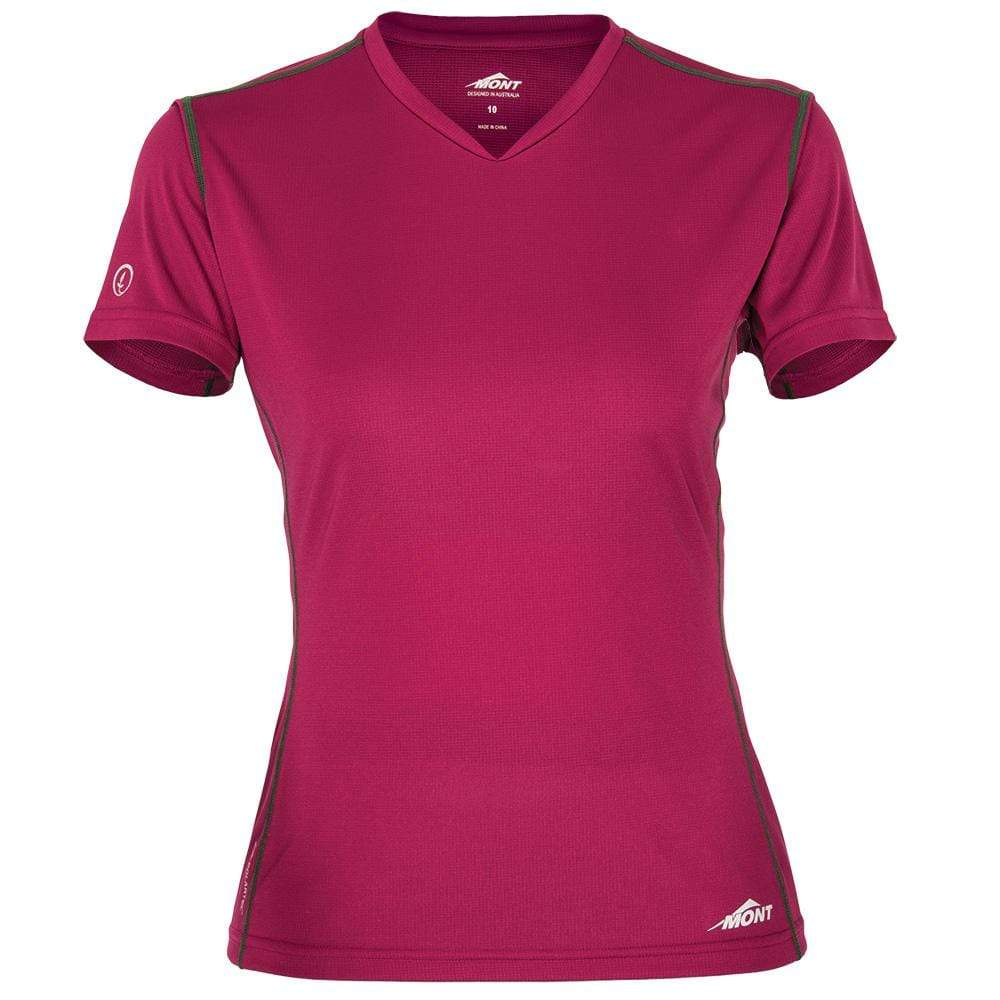 Mont Women Reactor Short Sleeve Vee Women Clearance 14 / Orchid 68.33.41