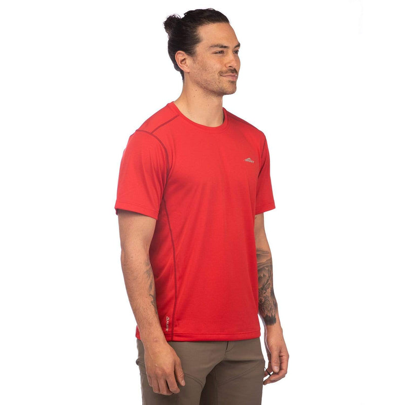 Mont Men Run Short Sleeve Tee Men Clearance SM / Red 68.70.25