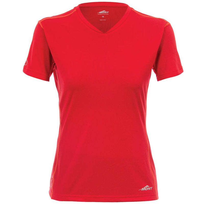 Mont Women Run Short Sleeve Vee Women Clearance 8 / Branson Blue 68.72.13