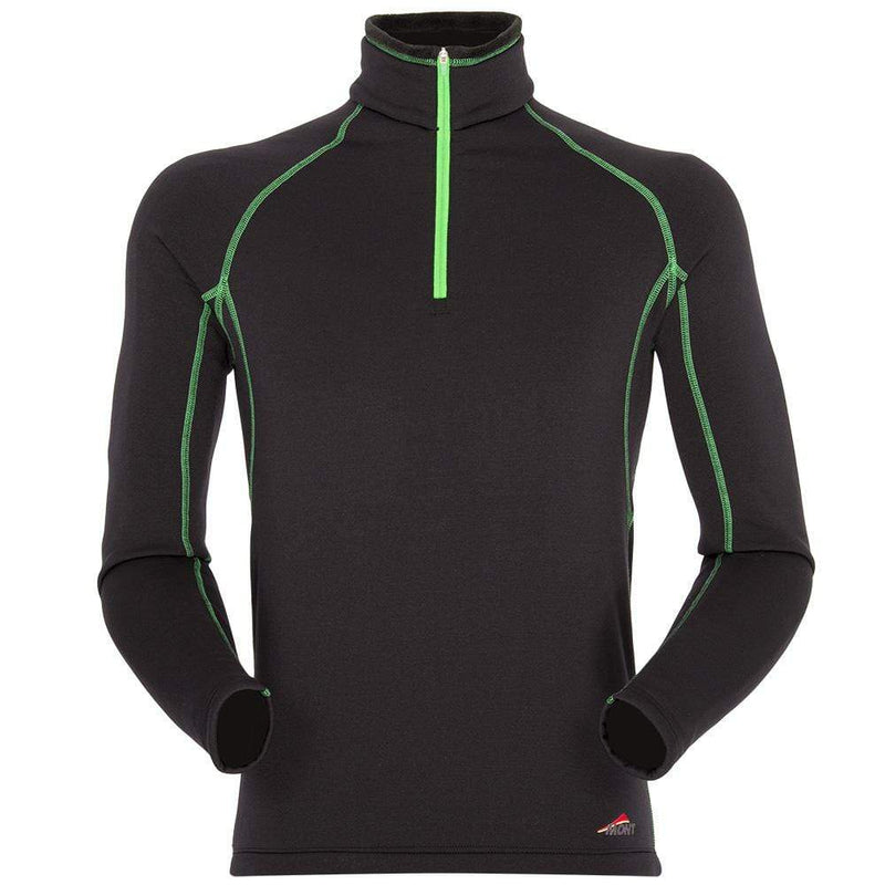 Mont Men Slinx Zip Polo Black/Green Men Clearance