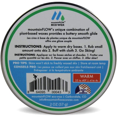 MountainFlow Other Gear MountainFlow Eco Quick Wax Warm 56g MTFLOW-QW-WARM-56