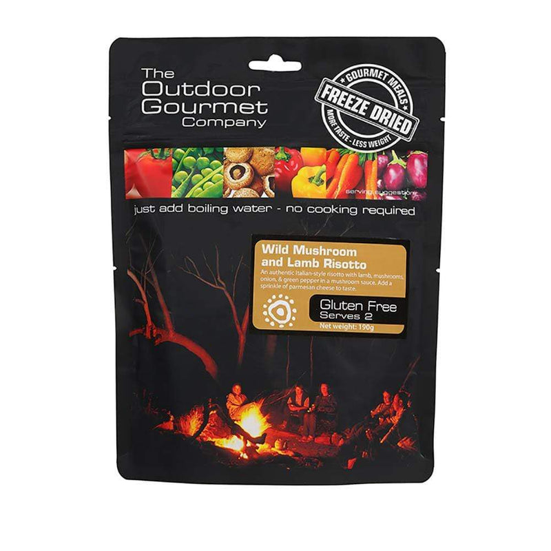 Outdoor Gourmet Food : Food GST NA Outdoor Gourmet Wild Mushroom Lamb Risotto OGC212