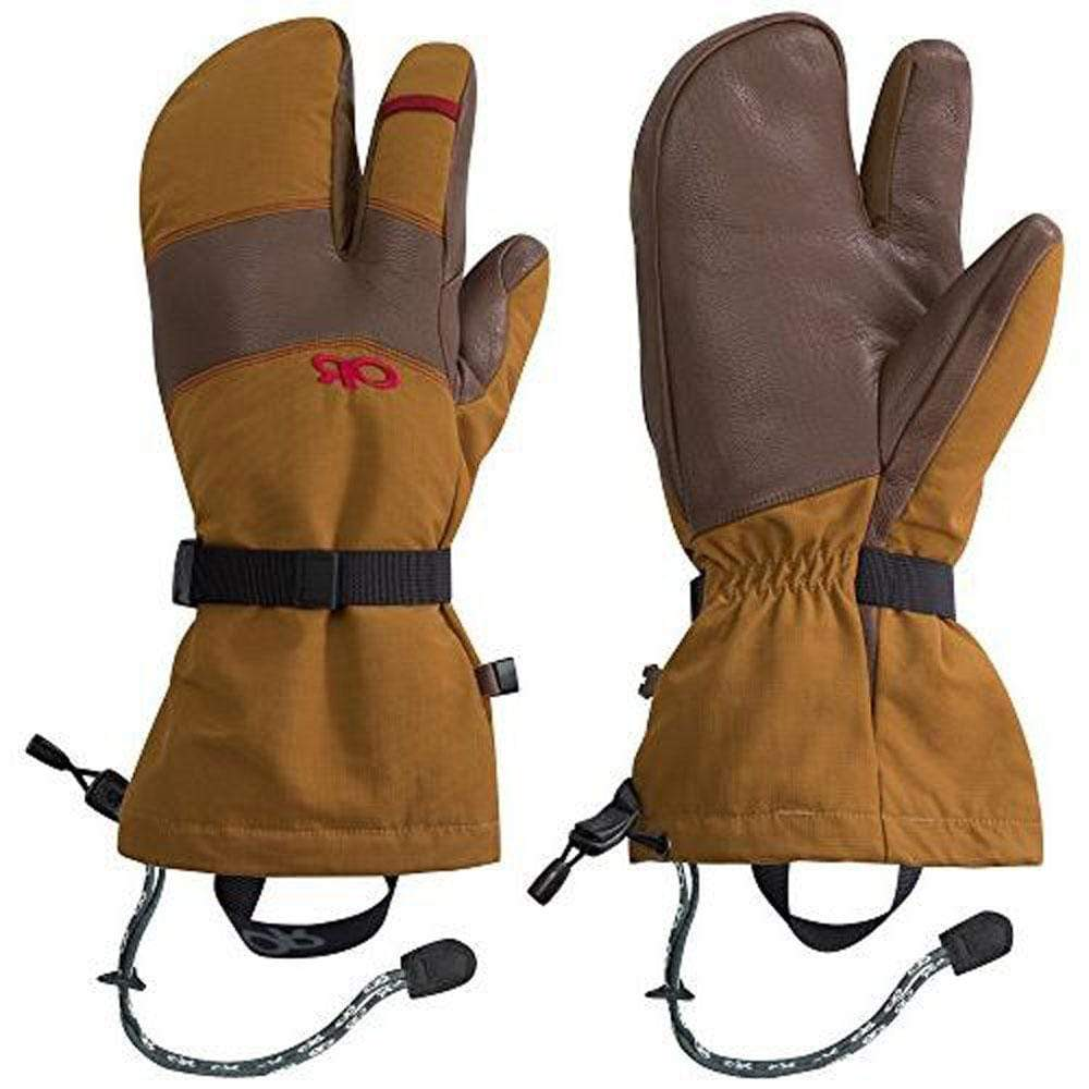 Outdoor Research Other Gear Outdoor Research Highcamp 3 Finger Gloves Men SM / Brown OR268055-1319006