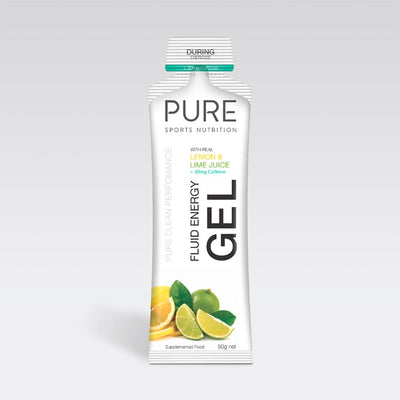 Pure Sports Nutrition Food : Food GST NA Pure Fluid Energy Gel Lemon and Lime (inc. Caffeine) Pure50EGLL+C