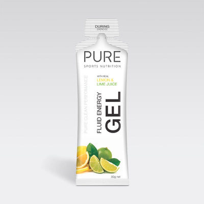 Pure Sports Nutrition Food : Food GST NA Pure Fluid Energy Gel Lemon Lime Pure50EGLL