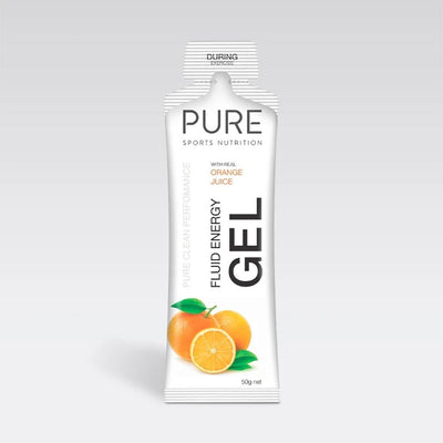 Pure Sports Nutrition Food : Food GST NA Pure Fluid Energy Gel Orange Pure50EGO
