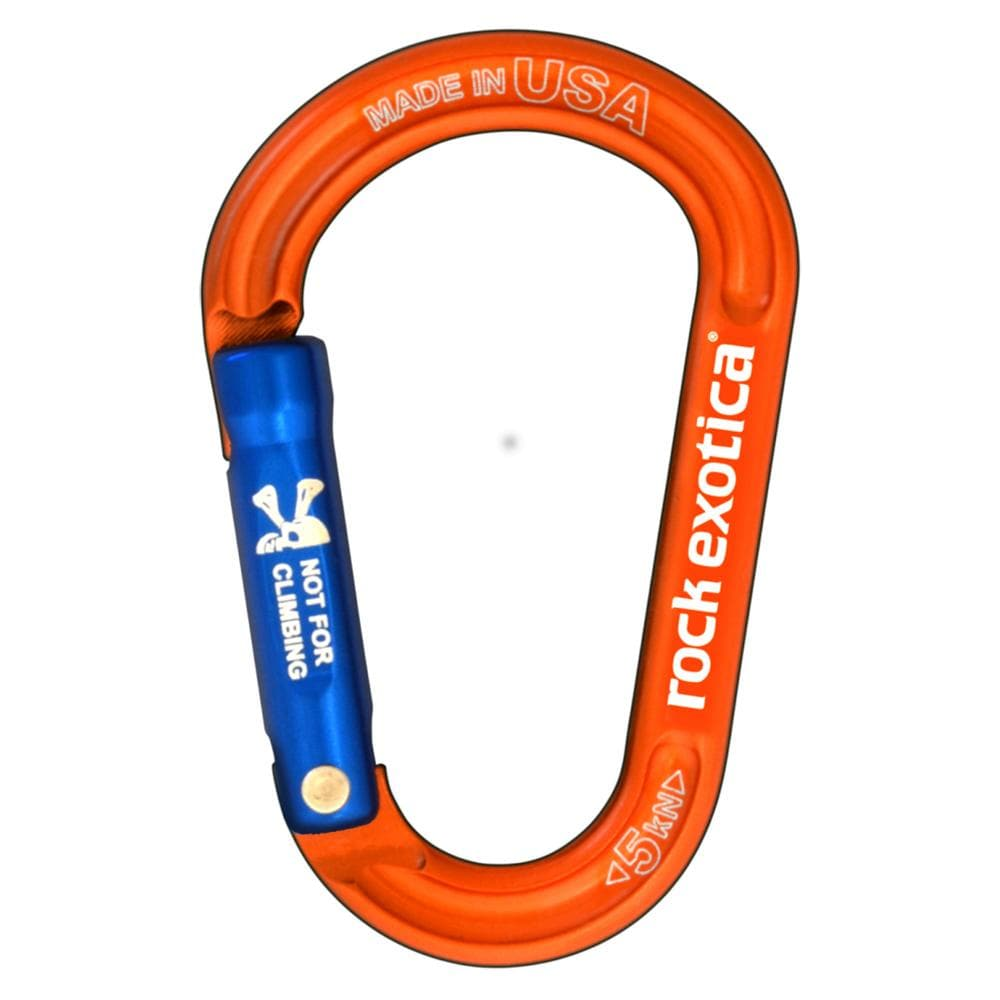Rock Exotica Industrial Rock Exotica RockX Accessory Carabiner Orange REXO 148513