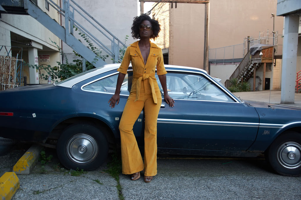 Diva-Jumpsuit-stretch cord -Turmeric-Soul Sister-since 1969