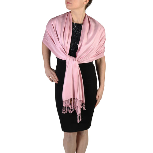 Dusty Pink Pashmina Scarf Shawl Wrap