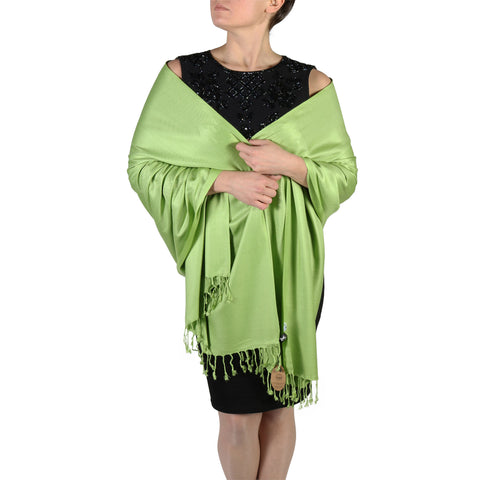 Lime Green Pashmina Scarf Shawl Wrap