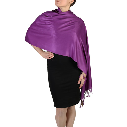 Purple Pashmina Scarf Shawl Wrap