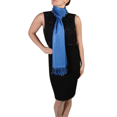 Royal Blue Pashmina Scarf Shawl Wrap