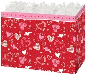 "Happy Hearts - Small Gift Basket Box ""Build your own Basket"""