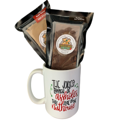 Jolliest Bunch of Assholes - Sassy Coffee Mug and Fudge Set