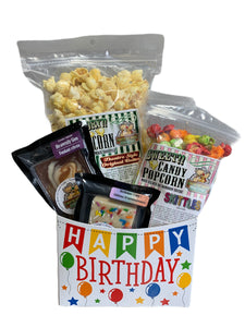 Happy Birthday $25 Fudge/Popcorn basket