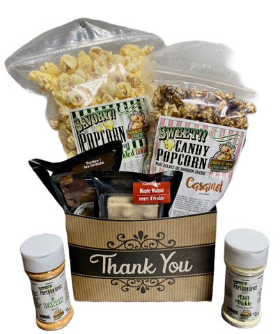 Thank you $35 Fudge/Popcorn Gift Basket