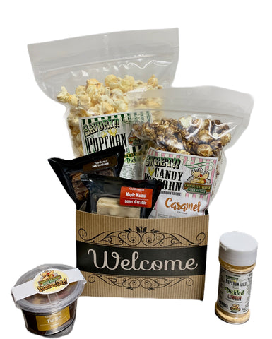 Welcome $35 Fudge/Popcorn Gift Basket