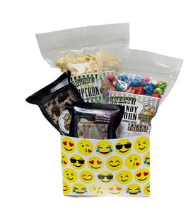 Smile Emojis $30 Fudge/Popcorn Gift Box