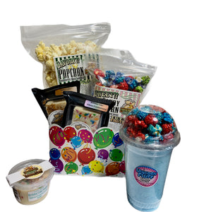 Birthday Balloons $35 Fudge/Popcorn Basket