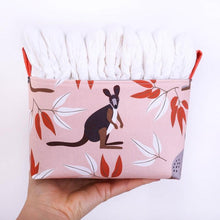 Load image into Gallery viewer, Australiana homewares, nappy bag,  Medium Kangaroo storage basket by MIMI Handmade Baskets, NSW Australia