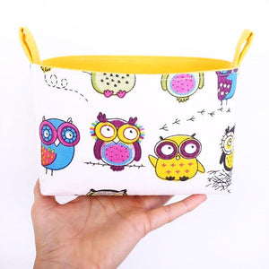 Funny owl storage basket to organise your nursery. CRAZY OWLS - Handmade on the Central Coast, NSW Australia by MIMI Handmade.
