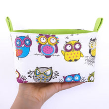 Load image into Gallery viewer, Funny green owl storage basket by MIMI Handmade, Australia