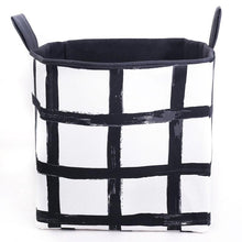 Load image into Gallery viewer, canvas toy storage baskets monochrome decor MIMI Handmade Baskets Australia