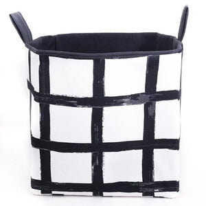canvas toy storage baskets monochrome decor MIMI Handmade Baskets Australia
