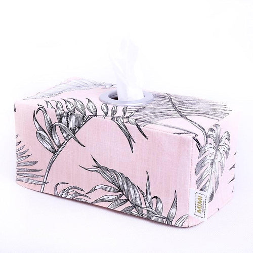 Tissue Box Cover - PINK BOTANICAL