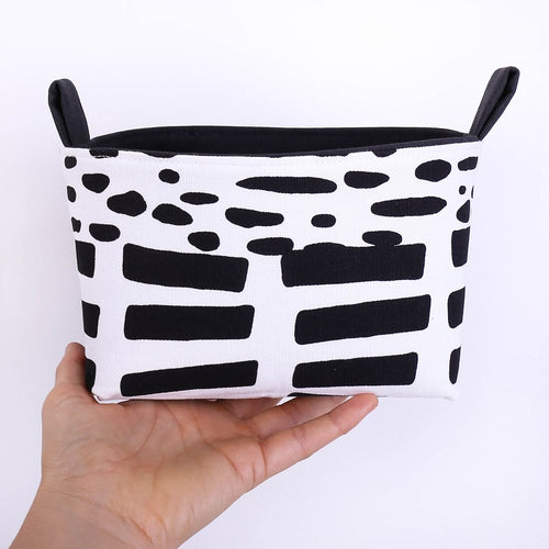 INDUSTRIAL - Medium Black Monochrome Storage Basket