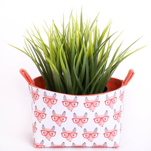 Fun storage basket - SMART FOXES - Handmade on the Central Coast, NSW Australia by MIMI Handmade.