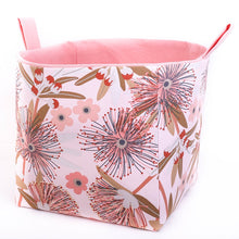Load image into Gallery viewer, Large cube toy storage basket Australiana Collection by MIMI Handmade Baskets Australia